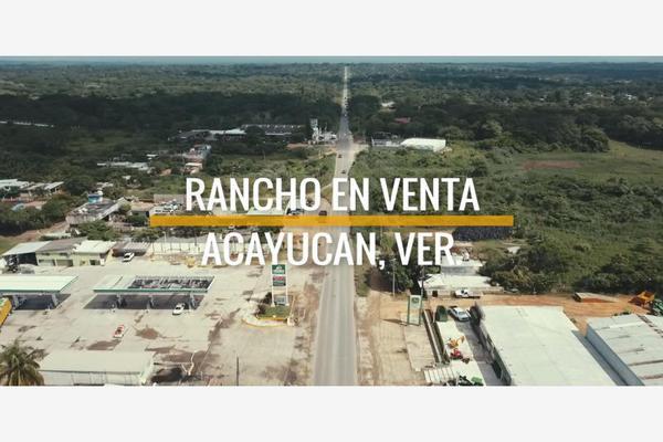Foto de rancho en venta en carretera minatitlan - veracruz 29, malinche, acayucan, veracruz de ignacio de la llave, 5785356 No. 01