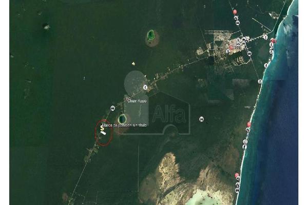 Foto de terreno habitacional en venta en carretera tulum chetumal , yaxche, tulum, quintana roo, 5713466 No. 02