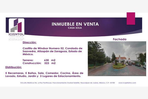 Foto de casa en venta en castillo de windsor 52, condado de sayavedra, atizapán de zaragoza, méxico, 5975852 No. 01