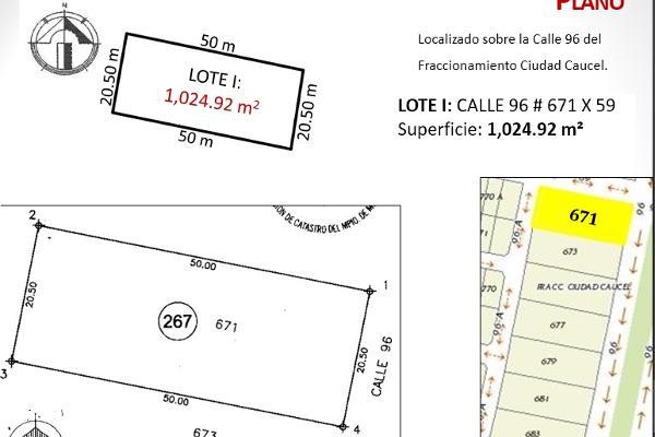 Foto de terreno habitacional en venta en  , caucel, mérida, yucatán, 2637631 No. 04