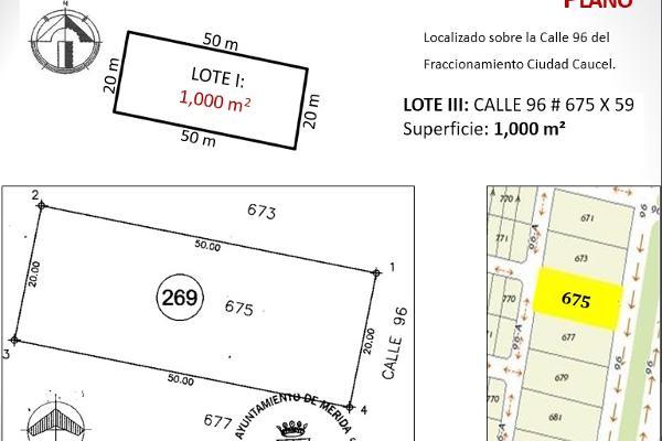 Foto de terreno habitacional en venta en  , caucel, mérida, yucatán, 2637631 No. 06