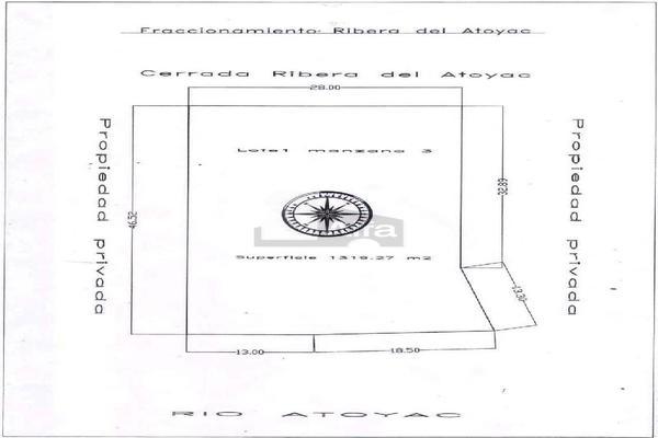 Foto de terreno habitacional en venta en cerrada rivera del atoyac manzana 5 lote 1 y 2 , rivera del atoyac, puebla, puebla, 5928218 No. 02