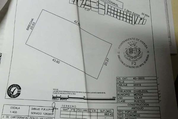 Foto de terreno habitacional en venta en  , chablekal, mérida, yucatán, 14028291 No. 01