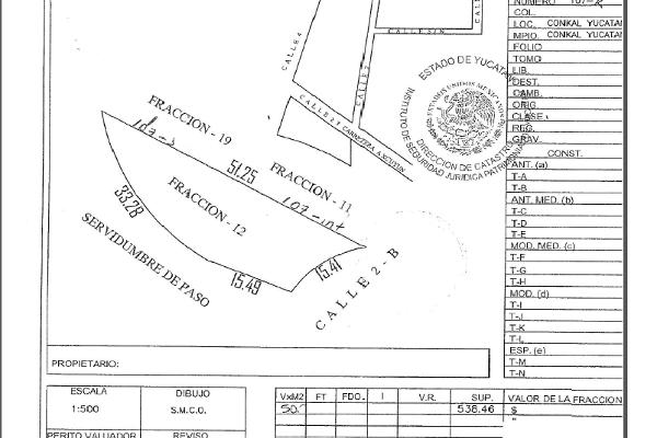 Foto de terreno habitacional en venta en  , conkal, conkal, yucatán, 3424813 No. 01