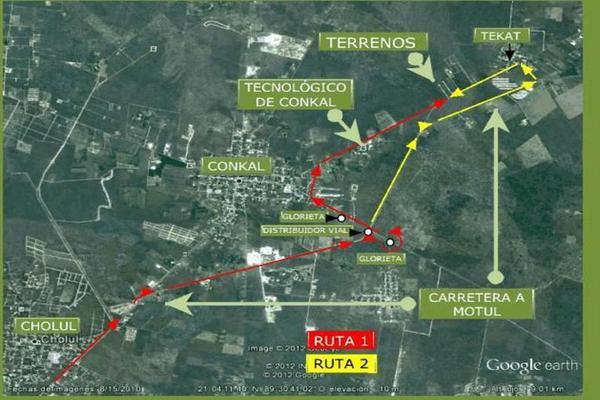 Foto de terreno habitacional en venta en  , conkal, conkal, yucatán, 7860572 No. 02