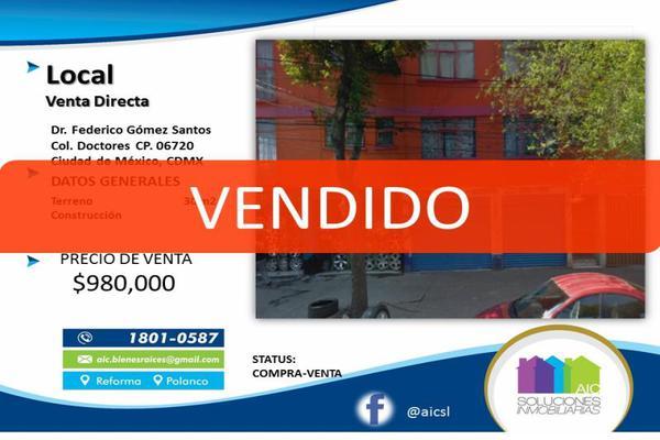 Foto de local en venta en doctor federico gómez santos 000, doctores, cuauhtémoc, df / cdmx, 13302007 No. 01