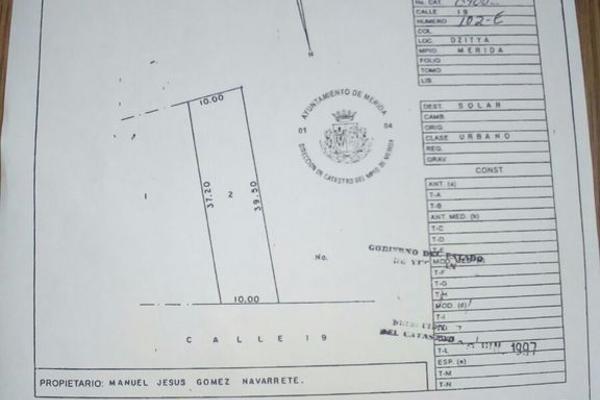 Foto de terreno habitacional en venta en  , dzitya, mérida, yucatán, 3424886 No. 02