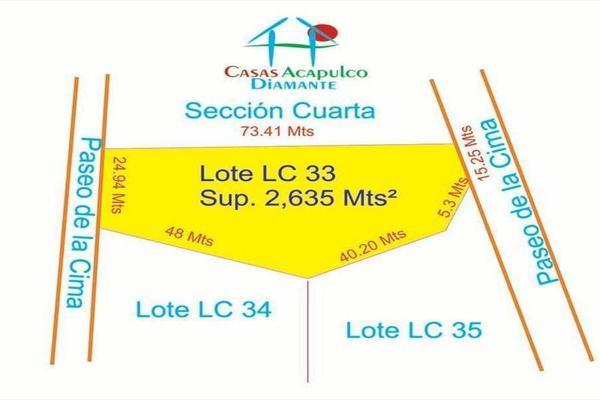 Foto de terreno habitacional en venta en editar 0, la cima, acapulco de juárez, guerrero, 8874440 No. 01