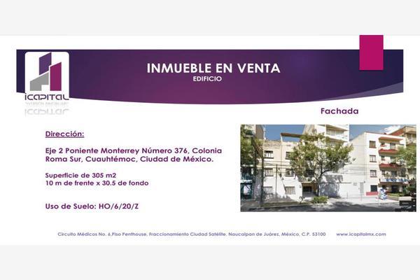 Foto de edificio en venta en eje 2 poniente monterrey 376, roma sur, cuauhtémoc, df / cdmx, 5921704 No. 01