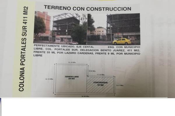 Foto de terreno comercial en venta en eje central 320, portales sur, benito juárez, df / cdmx, 15347570 No. 01