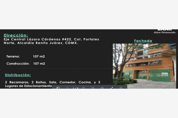 Foto de departamento en venta en eje central lazaro cardenas 422, portales norte, benito juárez, df / cdmx, 7170162 No. 01