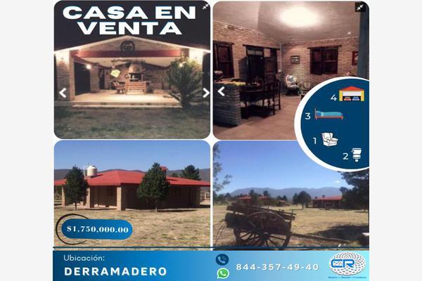 Foto de rancho en venta en ejido derramadero a, derramadero, saltillo, coahuila de zaragoza, 9934393 No. 01