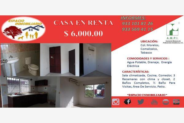 Foto de casa en renta en emilio cortez 1, morelos, comalcalco, tabasco, 5749990 No. 01