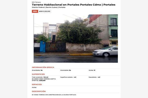 Foto de terreno habitacional en venta en emperadores 43, portales oriente, benito juárez, df / cdmx, 0 No. 02