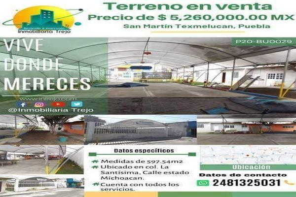 Foto de terreno comercial en venta en estado de michoacan , la santísima, san martín texmelucan, puebla, 18393192 No. 08