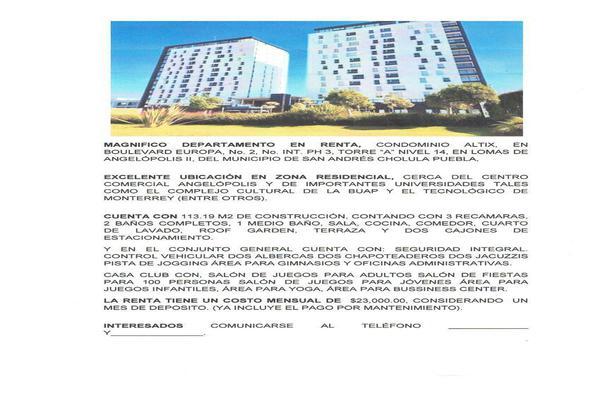 Foto de departamento en renta en europa , lomas de angelópolis ii, san andrés cholula, puebla, 8653135 No. 50