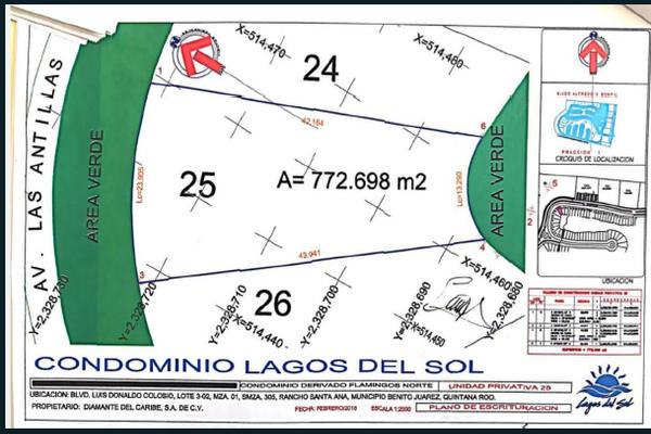 Foto de terreno habitacional en venta en flamingo , supermanzana 52, benito juárez, quintana roo, 5647228 No. 02