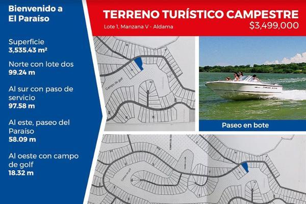Foto de terreno habitacional en venta en fraccionamiento el paraíso , aldama, aldama, tamaulipas, 5940230 No. 01