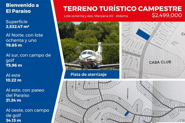 Foto de terreno habitacional en venta en fraccionamiento el paraíso , aldama, aldama, tamaulipas, 5940243 No. 01
