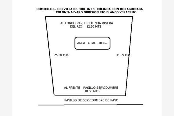 Foto de terreno habitacional en venta en francisco villa 100, álvaro obregón, río blanco, veracruz de ignacio de la llave, 19968154 No. 02