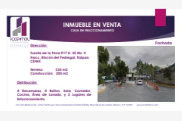 Foto de casa en venta en fuente de la pena 17, rincón del pedregal, tlalpan, df / cdmx, 5923492 No. 01