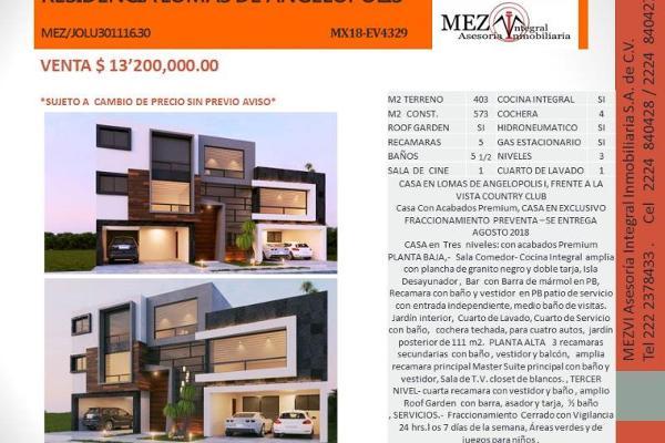Foto de casa en venta en gran boulevard 17, lomas de angelópolis ii, san andrés cholula, puebla, 5680077 No. 03