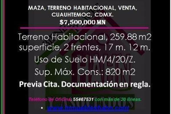 Foto de terreno habitacional en venta en guadalupe , maza, cuauhtémoc, df / cdmx, 9191830 No. 02
