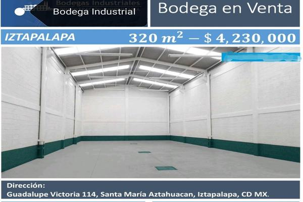 Foto de bodega en venta en guadalupe victoria , unidad modelo, iztapalapa, df / cdmx, 0 No. 01