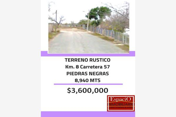 Foto de terreno habitacional en venta en kilometro 8 carretera 57 0, villa de fuente, piedras negras, coahuila de zaragoza, 5687093 No. 01