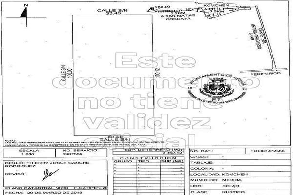 Foto de terreno habitacional en venta en  , komchen, mérida, yucatán, 14027914 No. 01