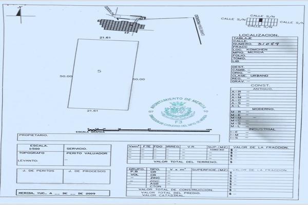 Foto de terreno habitacional en venta en  , komchen, mérida, yucatán, 7280469 No. 03