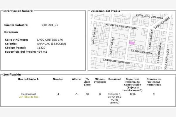 Foto de terreno habitacional en venta en lago cuitzeo 0, anahuac i sección, miguel hidalgo, distrito federal, 6170835 No. 03