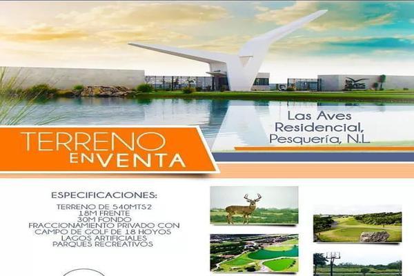 Foto de terreno habitacional en venta en las aves , las aves residencial and golf resort, pesquería, nuevo león, 5755580 No. 01