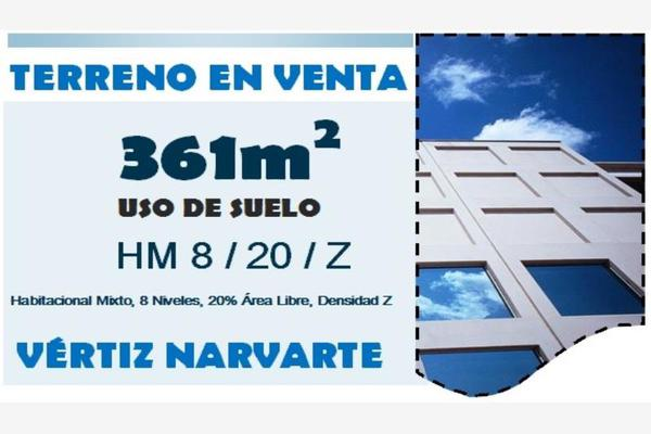 Foto de terreno habitacional en venta en lazaro cardenas 925, vertiz narvarte, benito juárez, df / cdmx, 0 No. 01