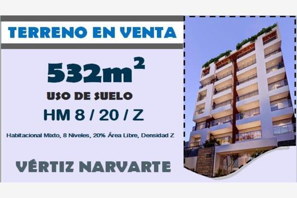 Foto de terreno habitacional en venta en lazaro cardenas 925, vertiz narvarte, benito juárez, df / cdmx, 0 No. 03