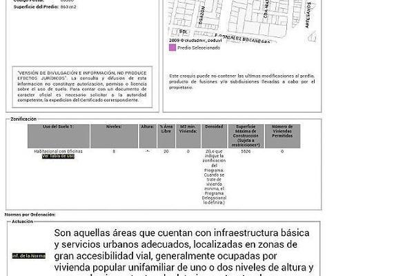 Foto de terreno habitacional en venta en lázaro cárdenas , niños héroes, benito juárez, df / cdmx, 5659417 No. 01