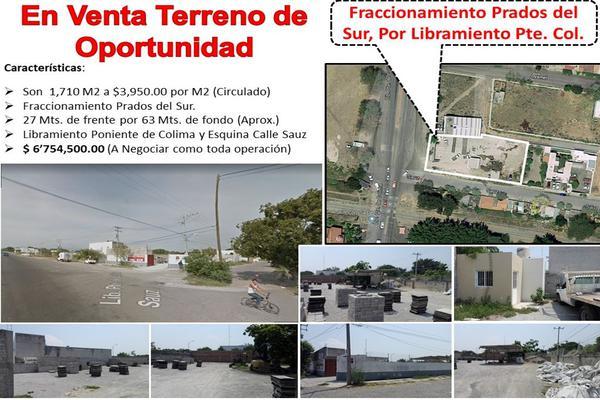 Foto de terreno comercial en venta en libramiento poniente de colima esquina calle sauz , prados de la villa, villa de álvarez, colima, 0 No. 02