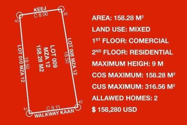 Foto de terreno habitacional en venta en lunata itzamna manzana 12 l09 , villas tulum, tulum, quintana roo, 8866853 No. 03