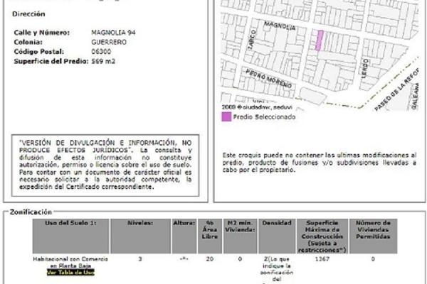 Foto de terreno habitacional en venta en magnolia , guerrero, cuauhtémoc, df / cdmx, 5302894 No. 07