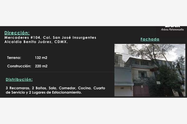 Foto de casa en venta en mercaderes 104, san josé insurgentes, benito juárez, df / cdmx, 7175825 No. 01