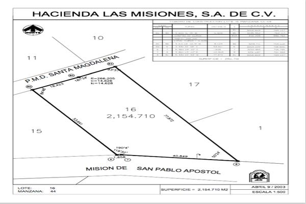 Foto de terreno habitacional en venta en mision santa magdalenal , las misiones, santiago, nuevo león, 7271212 No. 01