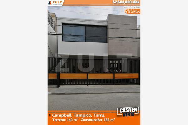 Foto de casa en venta en morelos 105, campbell, tampico, tamaulipas, 5832041 No. 01