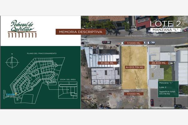 Foto de terreno habitacional en venta en muscovita 2, el pedregal de querétaro, querétaro, querétaro, 0 No. 02