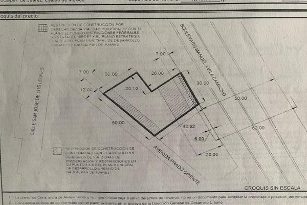 Foto de terreno habitacional en venta en naucalpan boulevard manuel avila camacho , naucalpan , san josé de los leones 1a sección, naucalpan de juárez, méxico, 7146995 No. 01