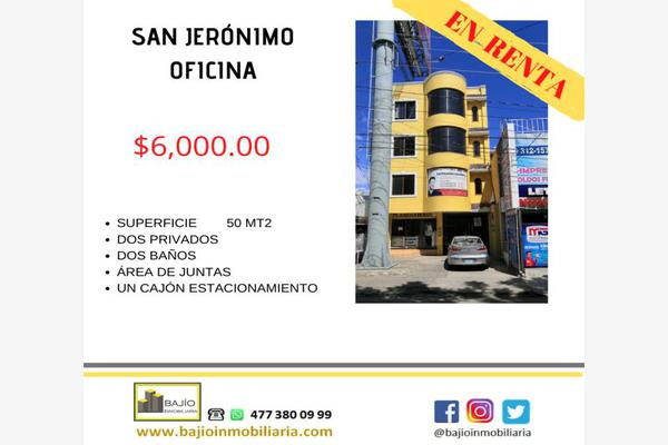 Foto de oficina en renta en oficina con privados súper ubicación, san jerónimo i, león, guanajuato, 17274668 No. 01