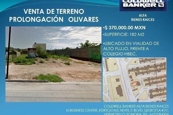 Foto de terreno habitacional en venta en olivares , cortijo pioneros, hermosillo, sonora, 8902046 No. 02
