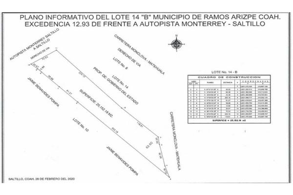 Foto de terreno habitacional en venta en  , parque industrial, ramos arizpe, coahuila de zaragoza, 0 No. 02