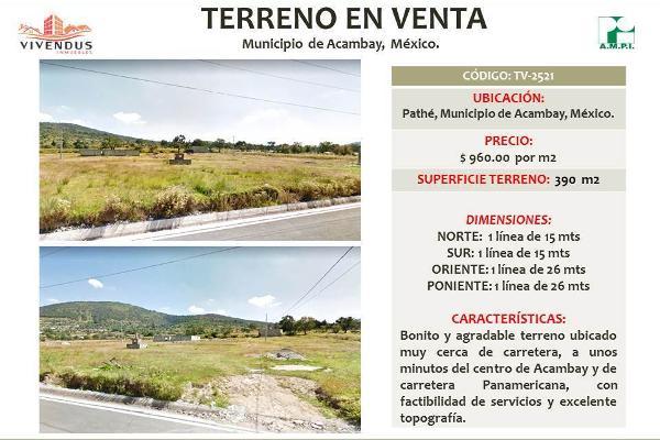 Foto de terreno habitacional en venta en  , pathé, acambay, méxico, 5372525 No. 04