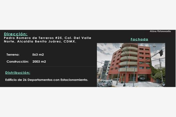 Foto de edificio en venta en pedro romero de terreros 25, del valle norte, benito juárez, df / cdmx, 7175465 No. 01