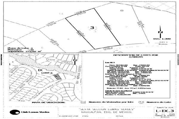 Foto de terreno habitacional en venta en pelagio antonio de la bastida y dávalos 3, lomas verdes 6a sección, naucalpan de juárez, méxico, 0 No. 01
